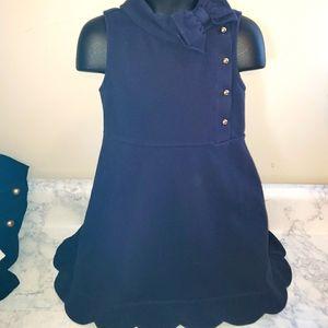Janie & Jack navy bow dress